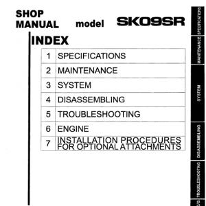 Kobelco Sk09sr Excavator Service Manual