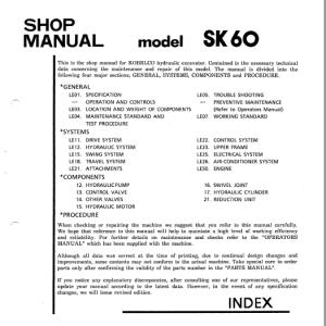 Kobelco Sk60 Excavator Service Manual