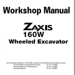 Hitachi Zx160w Wheeled Excavator Service Manual