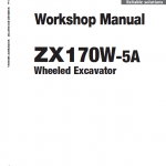 Hitachi Zx170w-5a And Zx170w-5b Excavator Service Manual