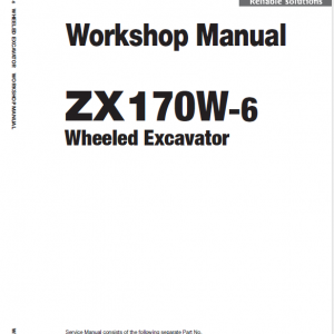 Hitachi Zx170w-6 Wheeled Excavator Service Manual