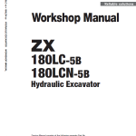 Hitachi Zx180lc-5b And Zx180lc-5g Excavator Service Manual