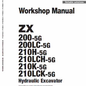 Hitachi Zx200-5g Excavator Service Manual