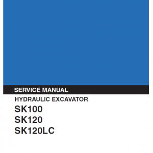 Kobelco Sk100 And Sk120 Excavator Service Manual