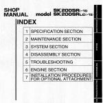 Kobelco Sk200sr And Sk200sr-lc Excavator Service Manual