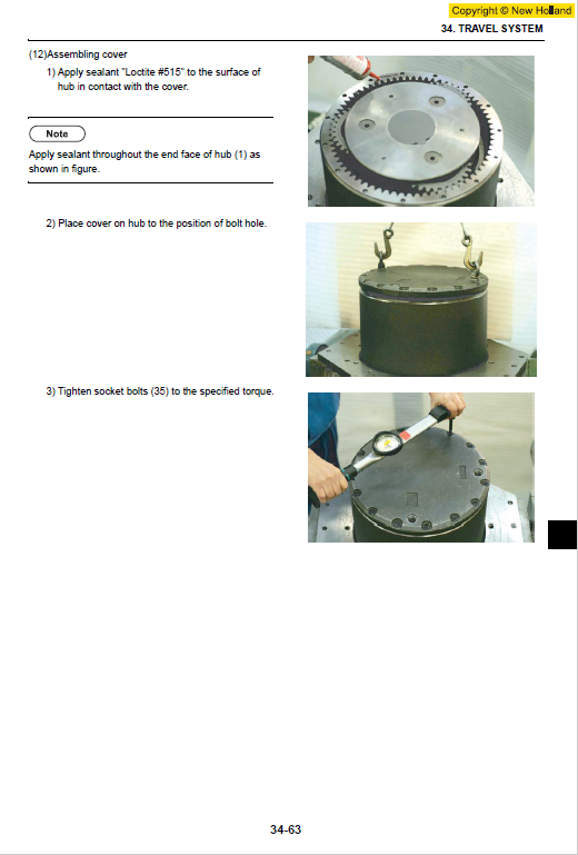 New Holland E215b Excavator Service Manual