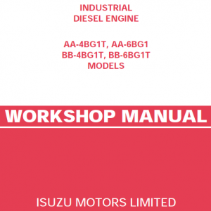 Isuzu Aa-4bg1t, Aa-6bg1, Bb-4bg1t And Bb-6bg1t Engines Service Manual