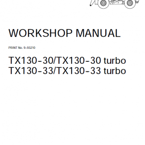 Case Tx130-30 And Tx130-33 Telescopic Handler Service Manual