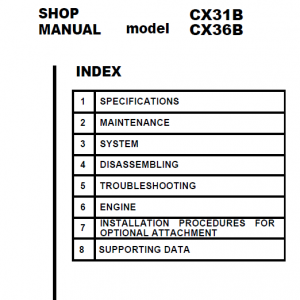 Case Cx31b And Cx36b Excavator Service Manual