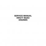 Isuzu 6WG1T Engines Service Manual