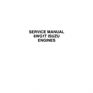 Isuzu 6wg1t Engines Service Manual