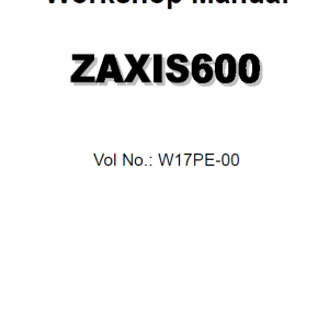 Hitachi Zx600 Zaxis Excavator Service Manual