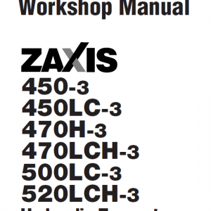 Hitachi Zx450-3, Zx470lch-3 And Zx520lch-3 Excavator Manual