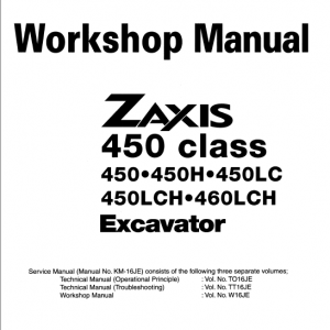 Hitachi Zx450 Class And Zx460lch Zaxis Excavator Manual