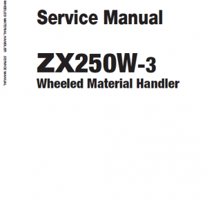 Hitachi Zaxis Zx250w-3 Excavator Manual