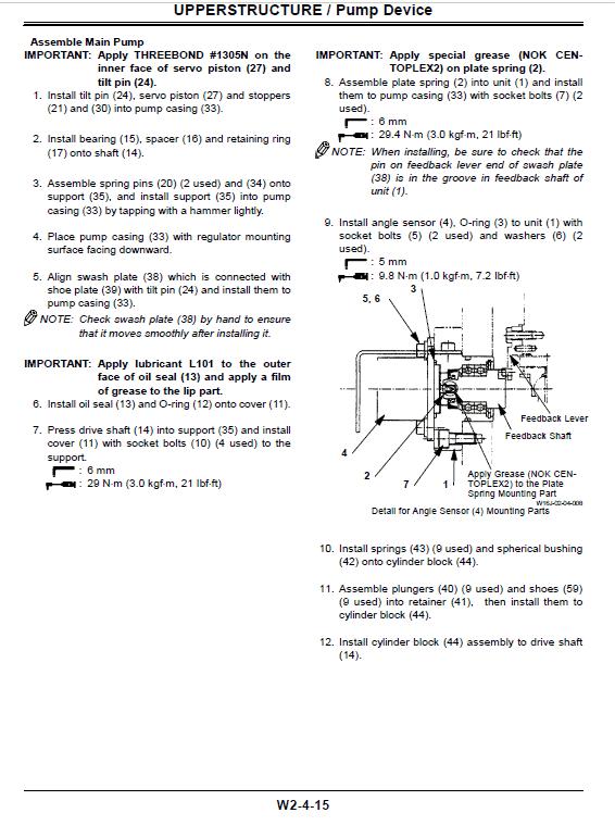 Hitachi Zx600 Zaxis Excavator Service Manual