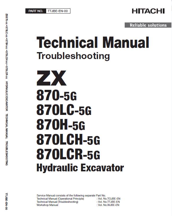 Hitachi Zx870-5g Excavator Service Manual