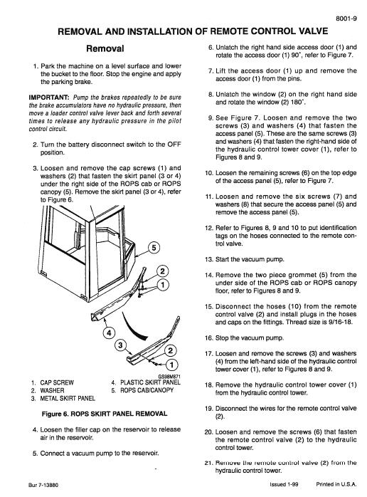 Case 921c Loader Service Manual