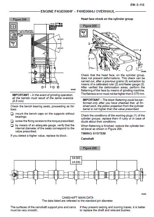 Iveco F4ge0484e, F4ge0684f And F4he0684j Engine Service Manual