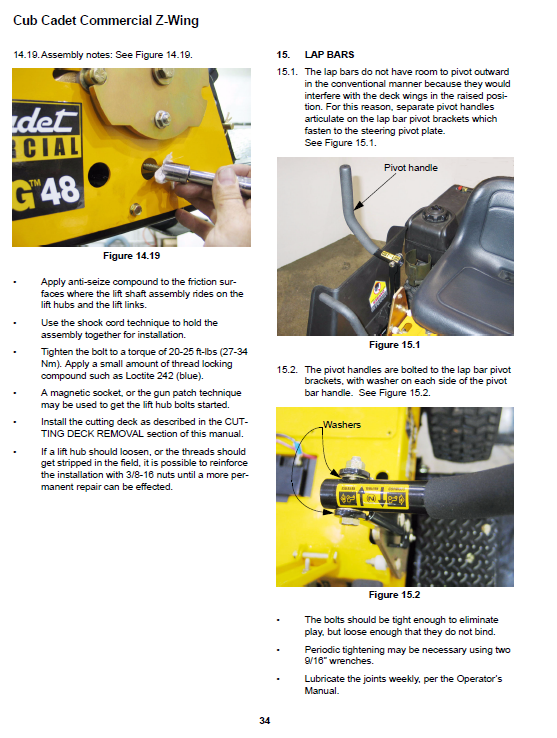 Cub Cadet Z-Wing Series Service Manual