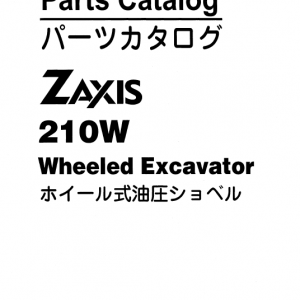 Hitachi Zx210w Zaxis Excavator Manual