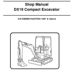 Doosan Dx19 Excavator Service Manual
