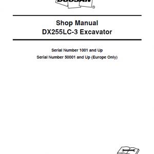 Doosan Dx255lc-3 Excavator Service Manual