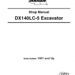 Doosan Dx140lc-3 And Dx140lc-5 Excavator Service Manual