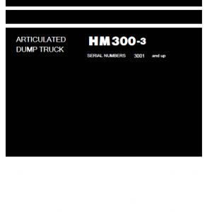 Komatsu Hm300-3 Dump Truck Service Manual