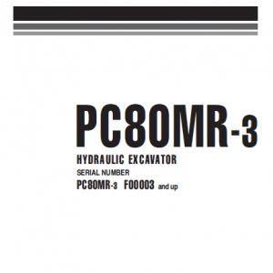 Komatsu Pc80mr-3 Excavator Service Manual