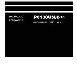 Komatsu Pc138uslc-10 Excavator Service Manual