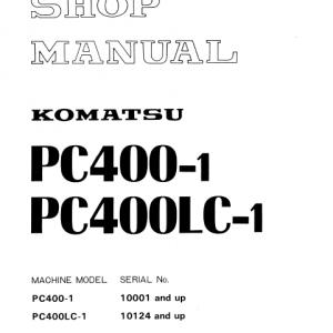 Komatsu Pc400-1, Pc400lc-1 Excavator Service Manual