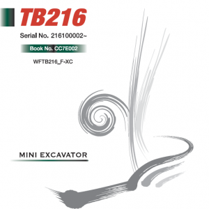 Takeuchi Tb216 Compact Excavator Service Manual