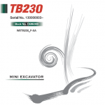 Takeuchi TB230 Compact Excavator Service Manual