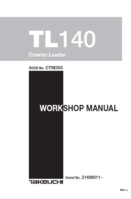 Takeuchi Tl140 Loader Service Manual