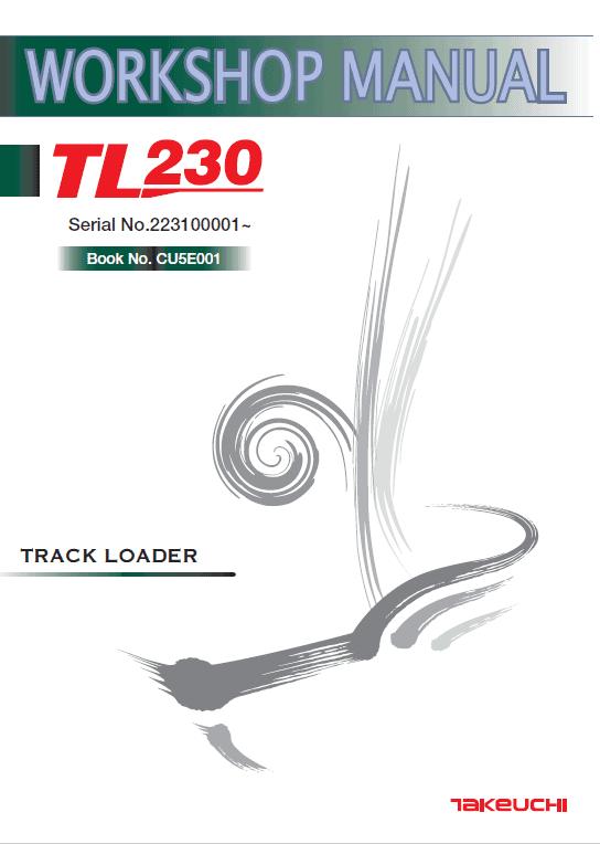 Takeuchi Tl230 Loader Service Manual