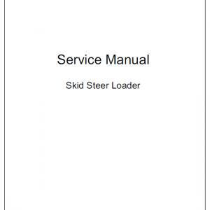 Takeuchi Ts50v And Ts60v Skidsteer Loader Service Manual