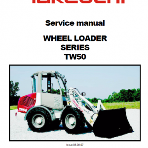 Takeuchi TW50 Wheel Loader Service Manual
