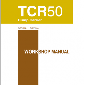 Takeuchih Tcr50 Dump Carrier Service Manual