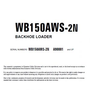 Komatsu Wb150aws-2n Backhoe Loader Service Manual
