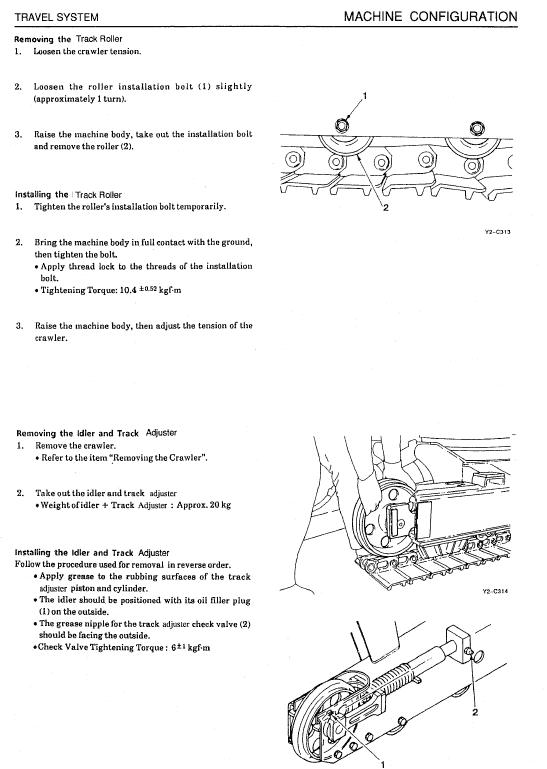 Takeuchi Tb015 Compact Excavator Service Manual