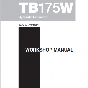 Takeuchi TB175 and TB175W Excavator Service Manual
