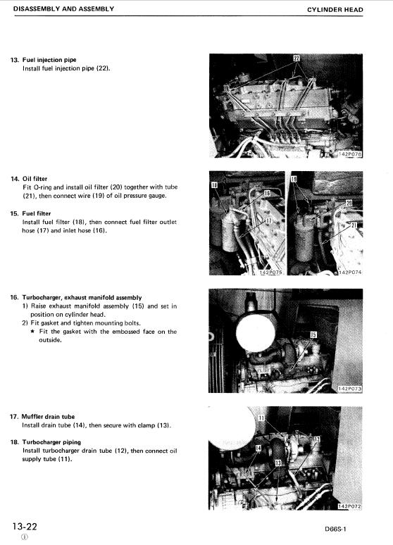Komatsu D66s-1 Dozer Service Manual