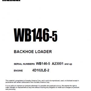 Komatsu Wb146-5 Backhoe Loader Service Manual