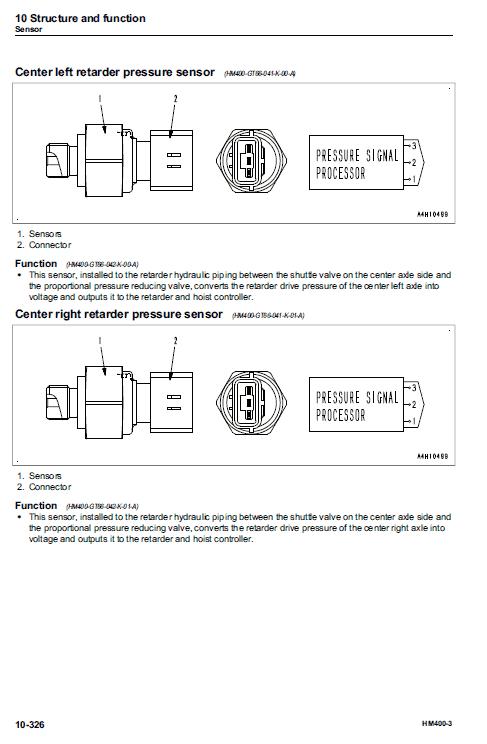 Komatsu HM400-3 Dump Truck Service Manual on