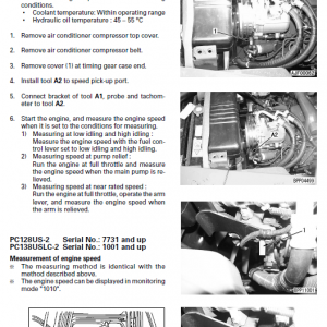 Komatsu Pc128us-2, Pc138us-2 And Pcn138uslc-2e0 Excavator Manual