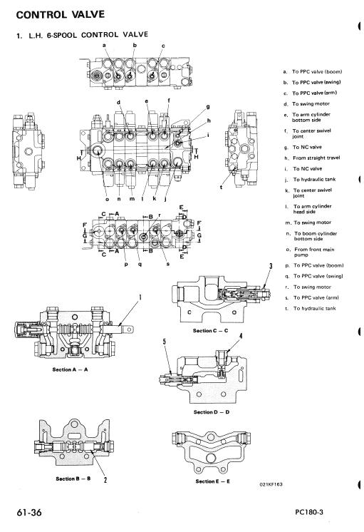Komatsu Pc180lc-3, Pc180llc-3, Pc180nlc-3 Excavator Manual