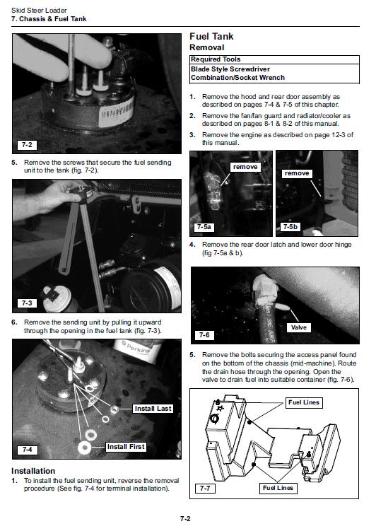 Takeuchi Ts50v And Ts60v Skidsteer Loader Service Manual