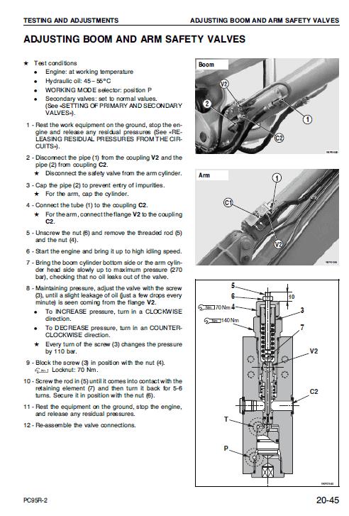 Komatsu Pc95r-2 Excavator Service Manual
