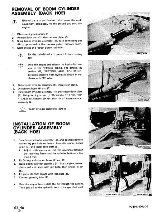 Komatsu Pc400-3, Pc400lc-3 Excavator Service Manual